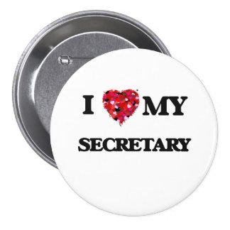 Amo a mi secretaria chapa redonda 7 cm