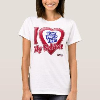 Amo a mi soldado - foto camiseta