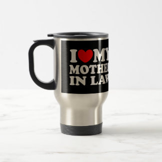 Amo a mi suegra taza de viaje