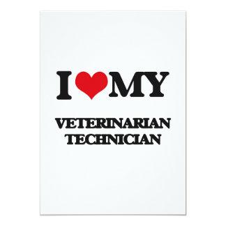 Amo a mi técnico veterinario invitación 12,7 x 17,8 cm