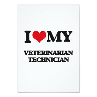 Amo a mi técnico veterinario invitación 8,9 x 12,7 cm