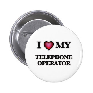Amo a mi telefonista chapa redonda de 5 cm