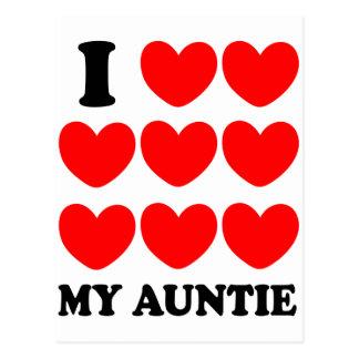 Amo a mi tía postal