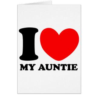 Amo a mi tía tarjeta de felicitación