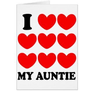 Amo a mi tía tarjetón