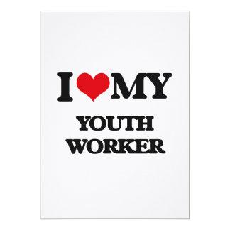 Amo a mi trabajador de la juventud anuncio personalizado