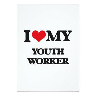 Amo a mi trabajador de la juventud invitación 12,7 x 17,8 cm
