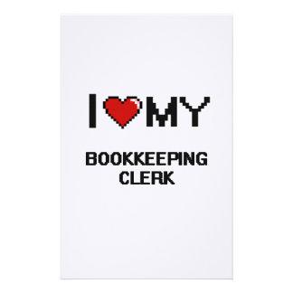 Amo a mi vendedor de la contabilidad papelería personalizada