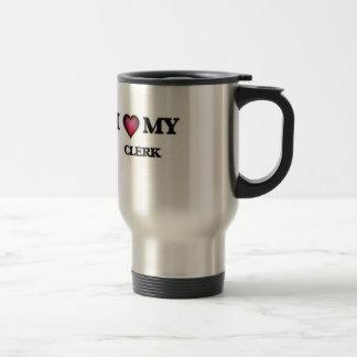 Amo a mi vendedor taza de viaje