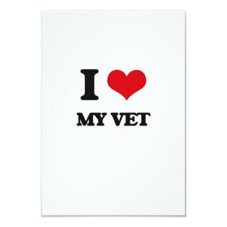 Amo a mi veterinario invitación 8,9 x 12,7 cm