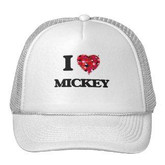 Amo a Mickey Gorros Bordados
