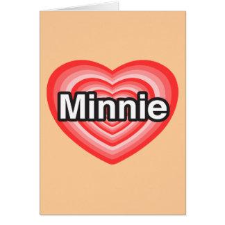 Amo a Minnie Te amo Minnie Corazón Tarjeta