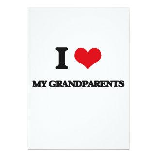 Amo a mis abuelos invitación 12,7 x 17,8 cm