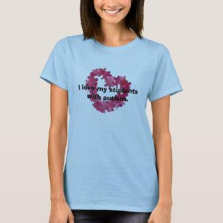 Amo a mis estudiantes con autismo camiseta