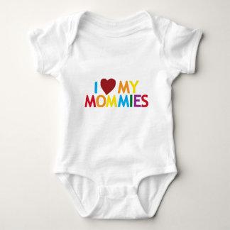 Amo a mis mamás body para bebé