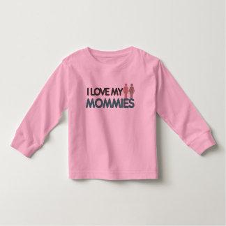 Amo a mis mamás camiseta de bebé
