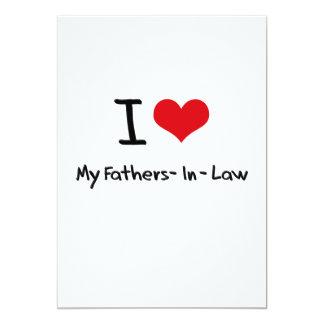 Amo a mis suegros invitación 12,7 x 17,8 cm