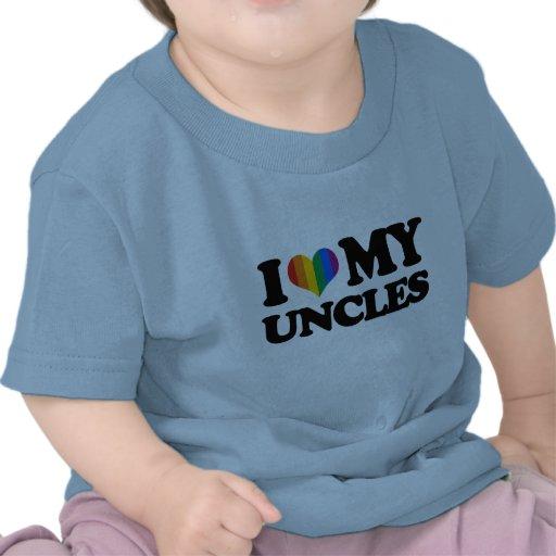 Amo a mis tíos camiseta