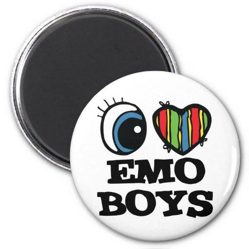 amo a muchachos del emo imán para frigorifico