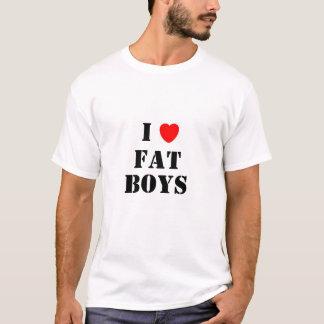 Amo a muchachos gordos camiseta