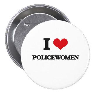 Amo a mujeres policía pin