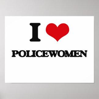 Amo a mujeres policía poster