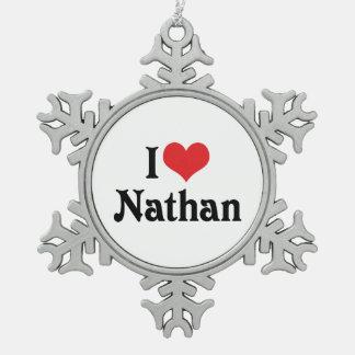 Amo a Nathan Adorno De Peltre En Forma De Copo De Nieve