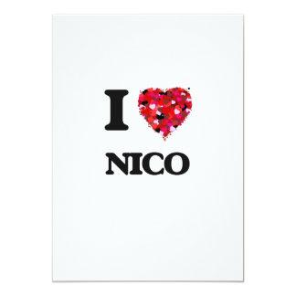 Amo a Nico Invitación 12,7 X 17,8 Cm