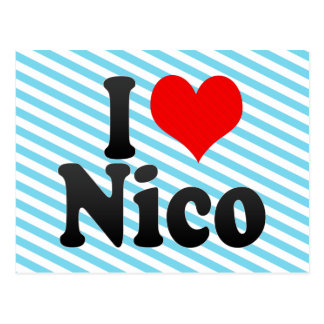 Amo a Nico Postales