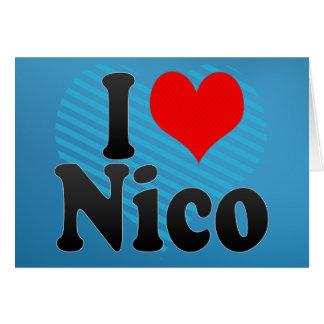 Amo a Nico Tarjeta De Felicitación