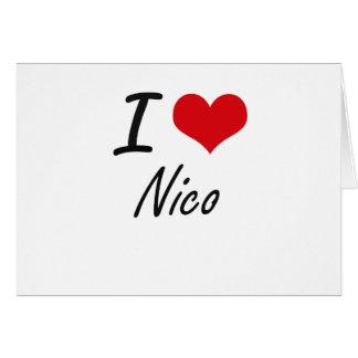 Amo a Nico Tarjeta Pequeña