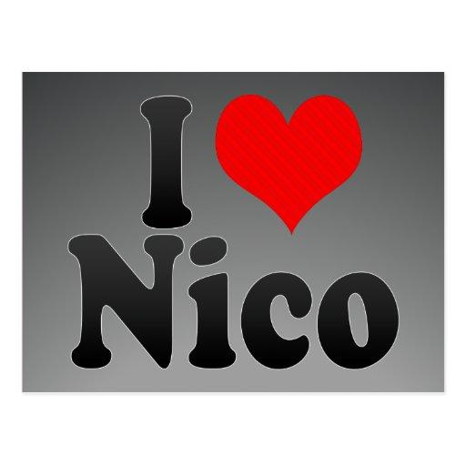Amo a Nico Tarjetas Postales
