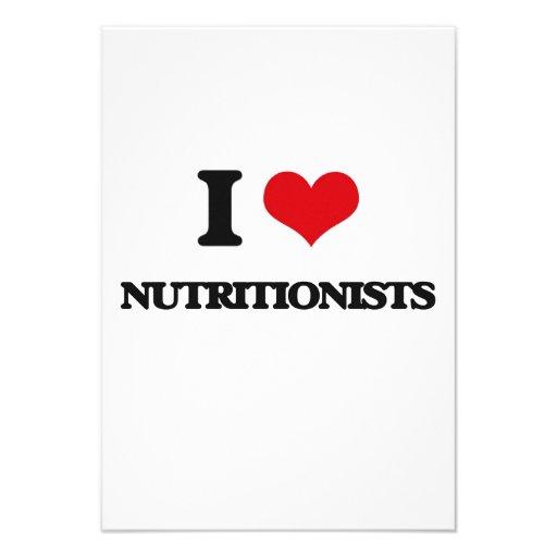Amo a nutricionistas comunicado personalizado