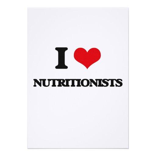 Amo a nutricionistas invitacion personalizada