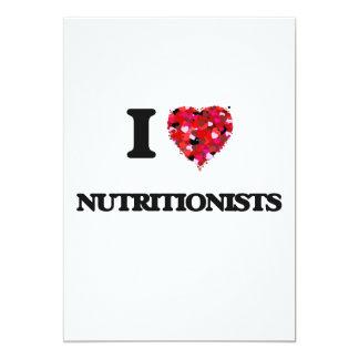 Amo a nutricionistas invitación 12,7 x 17,8 cm
