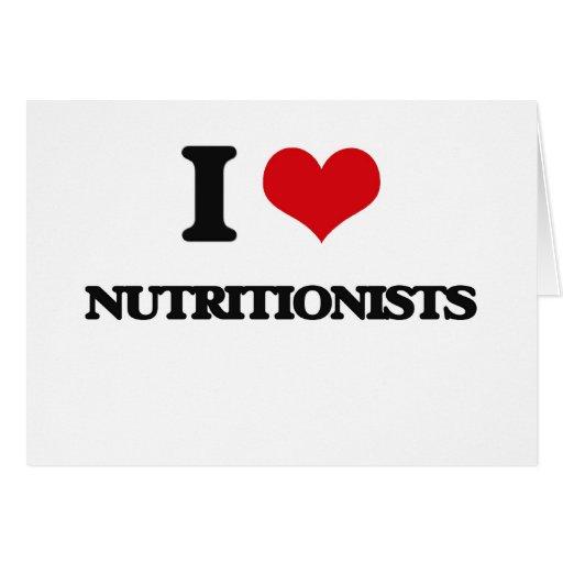 Amo a nutricionistas tarjeta