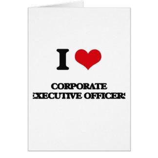 Amo a oficiales de ejecutivo empresarial tarjeta de felicitación