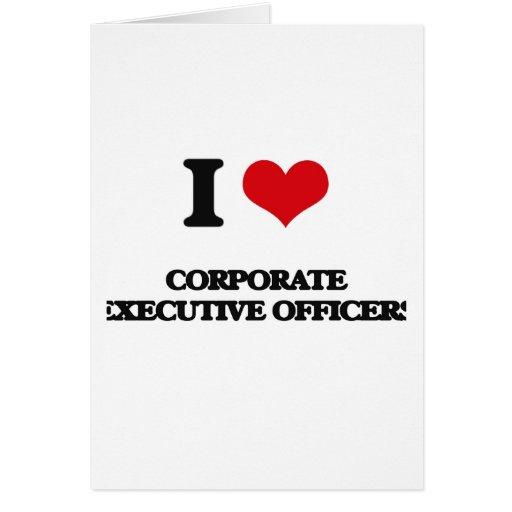 Amo a oficiales de ejecutivo empresarial felicitación