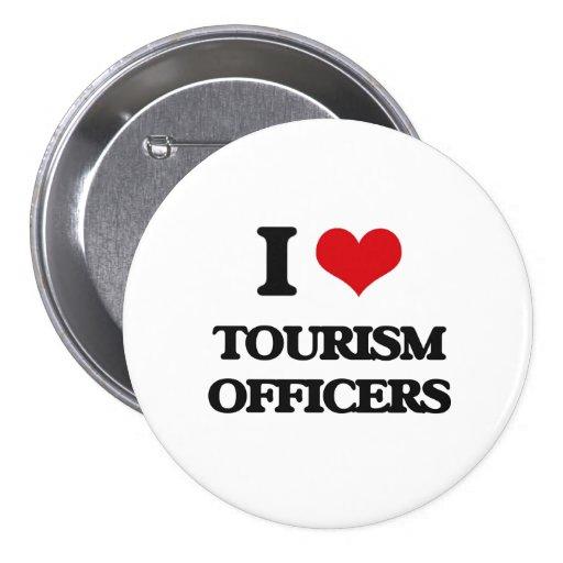 Amo a oficiales del turismo pin