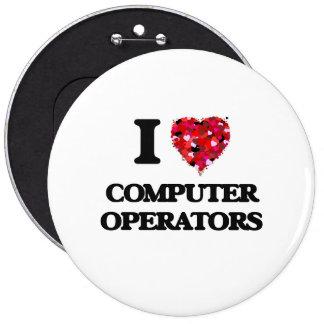 Amo a operadores chapa redonda 15 cm