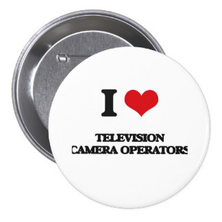 Amo a operadores de la cámara de televisión pin