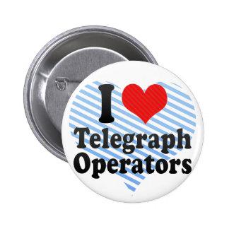 Amo a operadores de telégrafo pins