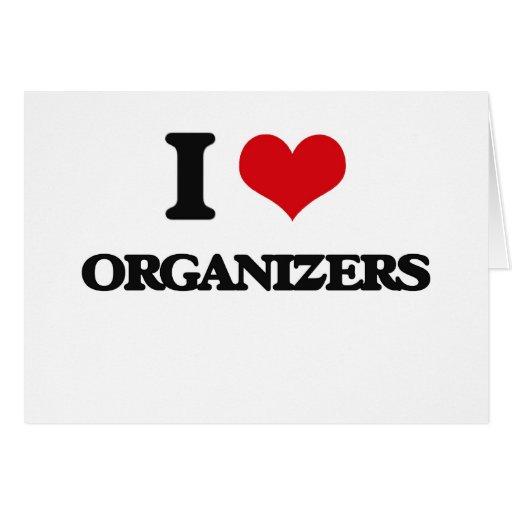 Amo a organizadores tarjetón