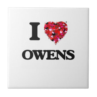Amo a Owens Azulejo Cuadrado Pequeño