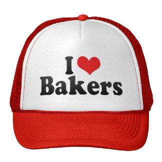 Amo a panaderos gorras de camionero