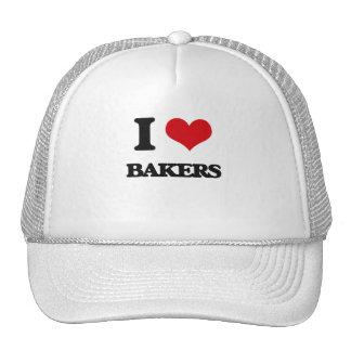 Amo a panaderos gorras