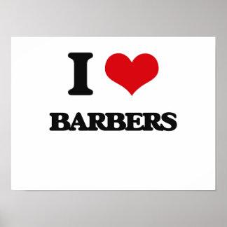 Amo a peluqueros poster