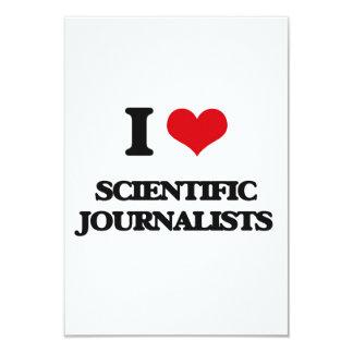 Amo a periodistas científicos invitación 8,9 x 12,7 cm