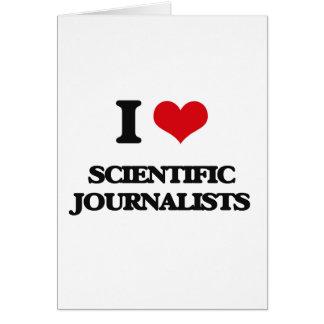 Amo a periodistas científicos tarjetón