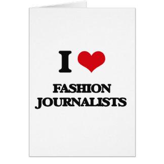 Amo a periodistas de la moda felicitaciones